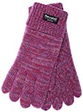 EEM Kinder Strick Handschuhe WARM AND HAPPY mit Thinsulate Thermofutter aus Polyester, Strickmaterial aus 100% Baumwolle, weich; pinkmix, L