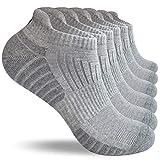 coskefy Sneaker Socken Herren Damen 43-46 39-42 35-38 47-50 Sportsocken Baumwollsocken Schwarz Weiß Grau Atmungsaktive Laufsocken