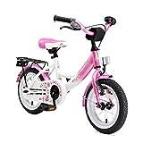 BIKESTAR Premium Sicherheits Kinderfahrrad 12 Zoll für Mädchen ab 3-4 Jahre   12er Kinderrad Classic   Fahrrad für Kinder Pink & Weiß