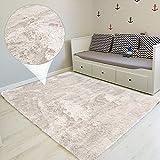 Amazinggirl Hochflor Teppich wohnzimmerteppich Langflor - Teppiche für Wohnzimmer flauschig Shaggy Schlafzimmer Bettvorleger Outdoor Carpet weiß 160x230