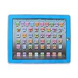 Fdit Lerncomputer Laptop elektronisches pädagogisch Kinder Tablet für Baby Kinder zu Lernaktivitäten für Buchstaben Wörter Zahlen oder Kleinkinder(Blau)