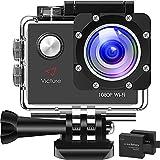 Victure AC420 Action Cam 1080P 14MP Full HD WiFi Unterwasserkamera wasserdichte 30M Sports Helmkamera mit kostenlosen Montage Zubehör Kits