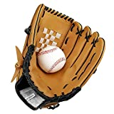 Baseball Handschuhe aus PU-Leder Baseball Glove Batting Handschuhe mit Einem Ball Softball Handschuhe für Kinder Erwachsene