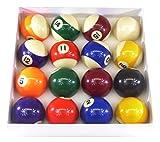 Billard Pro Unisex 5,1cm Pool Ball Set (Punkte und Streifen, Sortiert