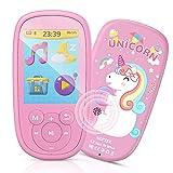 """Bluetooth MP3 Player Kinder, AGPTEK Einhorn MP4 Player 2,4"""" Bildschirm, Musik Player mit Lautsprecher, Kopfhörer, Wiegenlied, UKW-Radio, Schlaftimer und Sprachaufnahme usw. Pink"""