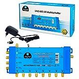 Multischalter pmse 5/8 HB-DIGITAL 1x SAT bis 8 x Teilnehmer / Receiver für Full HDTV 3D 4K UHD mit Netzteil