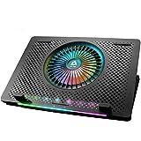KLIM Orb + Laptop-RGB-Kühler- 11 bis 15.6 Zoll + Laptop-Gaming-Kühlung + USB-Lüfter mit Metallgitter + Stabil und leise + Mac- und PS4-kompatibel + Neuheit 2020