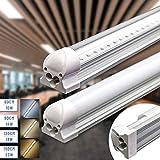 Led Röhre Leuchtstoffröhre komplett-Set mit Fassung 120cm 18W 1900lm 4000K Neutralweiss Transparente Abdeckung