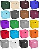 StickandShine 4er Set Weiß Faltbox 28 x 28 x 28 cm Aufbewahrungsbox faltbar mit Deckel