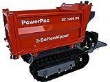 PowerPac RC1000DS Ketten-Dumper Motorschubkarre 3-Seiten-Kipper 13,5 PS kleiner LKW vorallem für schräges und schwieriges Gelände