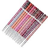 Heall 12st Professionelle Lipliner Wasserdicht Lip Liner Pencil Set Long Lasting Lip Makeup Kosmetik-Geschenk-Set für Frauen-Mädchen-Lippenpflege