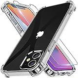 Alexcase iPhone 12 Mini Hülle mit 2 Stück Panzerglas Weiche TPU Silikon Durchsichtig Kratzfest Fallschutz Handyhülle Kompatibel mit iPhone 12 Mini 2020 Transparent Silikonhülle 5,4 Zoll