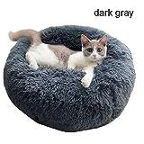 Weesey Haustierbett Hundebett Katzenbett Rundes Plüsch Hundesofa Katzensofa Kissen in Doughnut Form für Haustiere (Katzen und kleine Hunde)