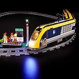 BRIKSMAX Led Beleuchtungsset für Lego City Personenzug Spielzeugeisenbahn, Kompatibel Mit Lego 60197 Bausteinen Modell - Ohne Lego Set