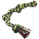 RIO Direct Hundespielzeug aus Seil für starke Hunde, große Hunde, stabil, mit 3 Knoten, robustes Kauspielzeug – extra langlebig – fast unzerstörbar – waschbar, für große Hunderassen.
