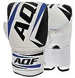 AQF Boxhandschuhe Sparring Training Kickboxen Boxsack Handschuhe Muay Thai Sandsackhandschuhe Punchinghandschuhe (Blau)