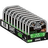CRAVE Premium Pastete mit Lamm & Rind für Hunde – Getreidefreies Adult Nassfutter mit hohem Proteingehalt – 10 x 300 g