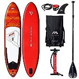 Aqua Marina Aquamarina Atlas - SUP - Stand Up Paddle Board mit Paddel, Leine, Magic Back Pack, und Double Action Pump, Mehrfarbig, L