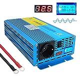 Yinleader Spannungswandler 1200W 12V 230V Reiner Sinus Wechselrichter Power Inverter mit 1 Steckdose und LED+LCD Display