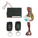 Kmoon Universal Auto Türschloss Keyless Entry System Zentralverriegelung Fernbedienung Kit mit 2 Klappschlüssel Kit 4