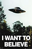 X-Files - I Want to Believe - UFO - Filmposter Kino Movie x-Files Science Fiction Sci Fi 61x91,5 cm