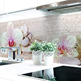 Küchenrückwand Orchideen Weiß Premium Hart-PVC 0,4 mm selbstklebend 220x60cm