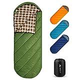 Forceatt Camping Schlafsack, 3 bis 4 Saison Reiserucksack Schlafsack, leicht, wasserabweisend, atmungsaktiv und warm, geeignet für Erwachsene Jugendliche Kids Outdoor-Wandern