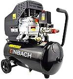 EINBACH Luftkompressor Druckluft-Aggregat 2,8kW m. Öl Kompressor 50 L Kessel 230V Sicherheitsventil 2x Schnellkupplung 2x Manometer Ölschmierung= Langlebig 8 bar Druckminderer
