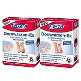 SOS Dornwarzen-Ex, zur schonenden Entfernung von Dornwarzen am Fuß, Lösung mit Salicylsäure und Milchsäure, für Erwachsene und Kinder ab 6 Jahren, klinisch bestätigte Wirksamkeit, 2×10ml Lösung
