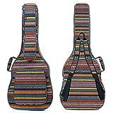 CAHAYA Bohemian Gitarrentasche Gig Bag 15,6mm Gepolsterte Wasserdicht Gitarrenhülle für Akustikgitarre 40/41 / 42 zoll
