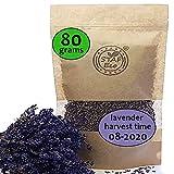STAFECO Lavendel Lavendelblüten, getrocknet, 100% natürlich, geerntet im August 2020, aus nachhaltigem, biologischem Anbau, als Tee, Potpourri oder Mottenschutz geeignet (80)