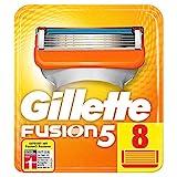Gillette Fusion 5 Rasierklingen mit Trimmer für Präzision und Gleitbeschichtung, 8 Ersatzklingen