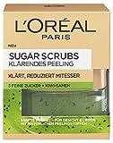 L'Oréal Paris Sugar Scrubs Klärendes Gesichtspeeling, mit Zucker und Kiwi-Samen, reduziert Poren und Mitesser, 50 ml