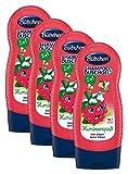 Bübchen Kids Shampoo und Duschgel Himbeerspaß, Kinder-Shampoo und -duschgel, pH-hautneutrale Waschlotion für sanfte Kinderhaut, mit Himbeer-Duft, Menge: 4 x 230 ml