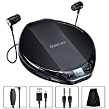 Gueray Tragbarer CD Player HiFi Classic Persönlicher CD-Player mit Kopfhörer-Überspringschutz LCD-Display Walkman