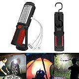 SunTop LED Arbeitsleuchte Mit Magnet Aufladbar Taschenlampe Werkstattlampe Portable Handlampe Campinglampe für Auto Reparatur, Werkstatt, Garage, Camping, Notbeleuchtung (Rot)