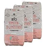 Hochwald - Bio Tomatenerde 60 L torffrei mit nachhaltigem Langzeitdünger - Gartenerde mit Natur Dünger für Tomaten & Gemüse - Erde für Gewächshaus - Blumenerde mit Bodenhilfsstoff für Tomatenpflanzen