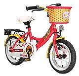 BIKESTAR Premium Sicherheits Kinderfahrrad 12 Zoll für Mädchen ab 3-4 Jahre | 12er Kinderrad Classic | Fahrrad für Kinder Rot