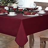 Alishomtll Tischdecke Rot Abwaschbar Tischtuch Garten Outdoor Wasserabweisend Fleckschutz Tischwäsche Wählbar Eckig Polyester 140x140 cm