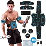 UIHOL EMS Bauchmuskeltrainer, EMS Elektrische Muskelstimulation USB-wiederaufladbarer tragbarer Fettverbrennung EMS Trainingsgerät Bauch- / Arm- / Bein-Fitness Trainings Gang