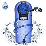 Zacro Trinkblase 2,5L Proof Trinkblasen mit Isoliertem Beissventil und Automatischem Absperrventil für Radfahren, Wandern, Laufen, Klettern (BPA Freier Wasserbehälterbeute)