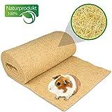 Nagerteppich aus 100% Hanf auf Rolle mit 10m Länge, 70cm Breite, 5mm dick (6,27 Euro / m2) Hanfteppich für alle Arten Kleintiere, Hanfmatte Nagermatte Nager-Teppich