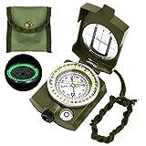 Etmury Kompass ,Militär Marschkompass, Professioneller Militär Navigation Kompass mit Fluoreszierendem Design ,Peilkompass Kompass , Perfekt für Camping Wandern und andere Outdoor-Aktivitäten