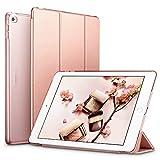 ESR iPad Air 2 Hülle, Auto aufwachen/Schlaf Funktion Wickelfalz Ledertasche mit Lichtdurchlässig Rückseite Abdeckung Schutzhülle für iPad Air 2 / iPad 6 (Roségold)