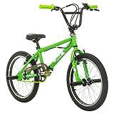 Multibrand Distribution Probike, BMX 20 Zoll, Freestyle Bike, BMX, 360° Rotor-System, 4 Stahl Pegs, Kettenschutz, Freilauf (Grün-Grün)