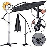 ArtLife Ampelschirm Brazil 350 cm Kurbel Ständer – UV-Schutz wasserabweisend knickbar – Sonnenschirm Marktschirm – grau