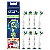 Oral-B CrossAction Aufsteckbürsten mit CleanMaximiser-Borsten für ganzheitliche Mundreinigung, in briefkastenfähiger Verpackung, 8Stück