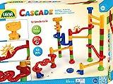 SIMM Spielwaren Lena65202 - Cascade Kugelbahn groß mit 42 Bahnelementen und 20 Glasmurmeln