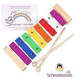 SCHMETTERLINE Glockenspiel für Kinder aus Holz – Harmonisches Xylophon mit Notenbuch und Holz-Schlägeln – Musikinstrument ab 3 Jahren mit wundervollen Klängen