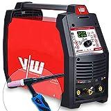 WIG Schweißgerät mit Elektrodenschweißfunktion 200 Ampere | HF-Zündung - Pulsfunktion - 2 und 4 Takt - Jobspeicher - digitales Anzeigendisplay von Vector Welding